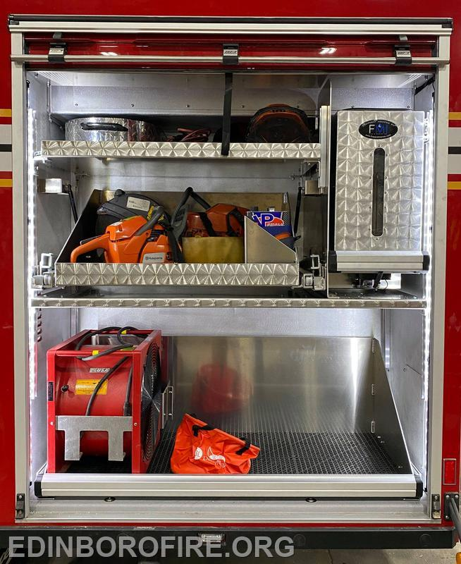 Saw and gas equipment storage