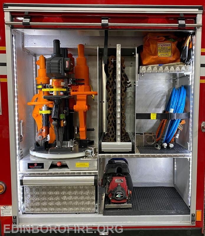 """Rescue tool storage on the """"lazy susan"""""""